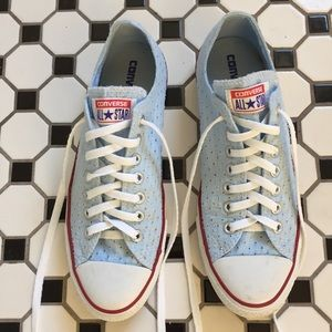 Converse All Star Women's Size 11 Blue Fabric